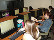 Girls try drafting in the Sierra College lab during NEW event to attract young women to STEM careers.