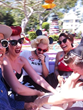 PUG fan's enjoying a ride on the Mad Hatters Tea Party spinning cups attraction