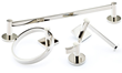 Decorative Bath Hardware in Polished Nickel