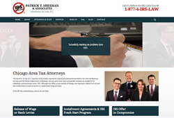Chicago area tax attorney, Patrick Sheehan New Site Launch