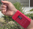 Phubby Wrist Cellphone Holder by Nifty-Nifty.com the Perfect Accessory for Superbowl Sunday.