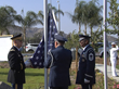 The Honor Guard was asked to raise the first US Flag over the community