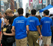 Youth for Human Rights Volunteers in their dark blue T-shirts circulated through the crowd at the 8th annual YD|TO—Youth Day Toronto 2014— collecting signatures on human rights petitions.