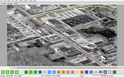 User-defined graphics can be shown on the video in addition to street address data