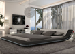 Modern Black Platform Bed With LED Lighting TOS-INN-CUSTO-BLK-LED from Tosh Furniture
