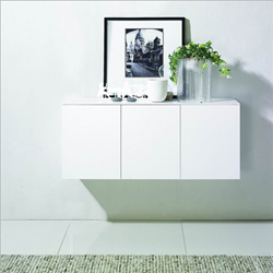 Florence Hanging Console IN Matte White Lacquer HGSD526 From Nuevo Living
