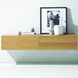 Elise Hanging Console In American Walnut Veneer HGSD524 From Nuevo Living