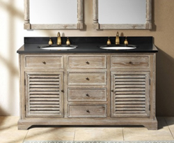 "Savannah 60"" Double Bathroom Vanity In Driftwood From James Martin Furniture 238-104-5611"