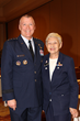 U.S. Air Force Lt. Gen. Kevin McLaughlin visits with Col. Mary Feik at CAP's National Conference