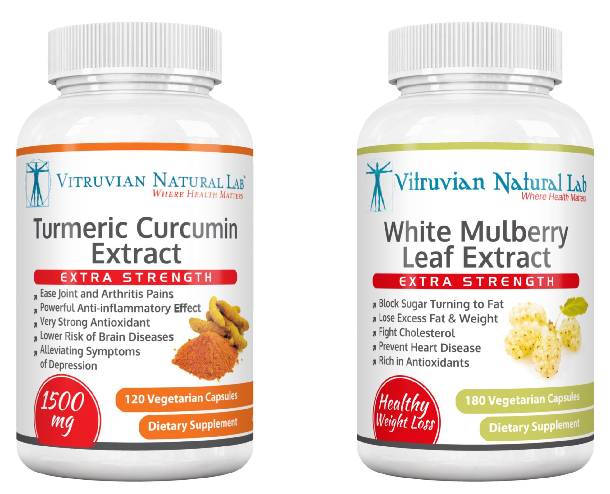 Turmeric Curcumin Extract and White Mulberry Leaf Extract