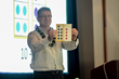 ORIGO Education's President, James Burnett showing the 'Bridge to Ten' strategy.