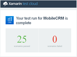 Xamarin Test Cloud Report on Resco Mobile CRM