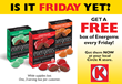 Customers receive a free box of Energems at participating Circle K stores each Friday in August. 