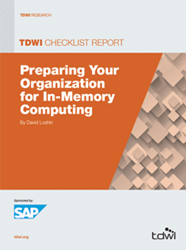 image of the 2014 TDWI Checklist Report: Preparing Your Organization for In-Memory Computing