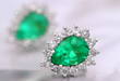 Boyoca Colombian Emerald Stud Earrings