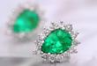 Boyoca Colombian Emerald Stud Earrings