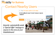 Contact Nearby Users