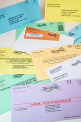 vote-by-mail envelopes
