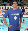 A blue lifeguard t-shirt is also offered