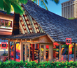 Kona Mountain Coffee store on Oahu at the Hilton Hawaiian Village Rainbow Bazaar