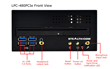 LPC-480PCI/PCIe - Front Panel Layout