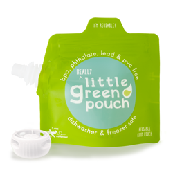 3.4 ounce reusable food pouch—reall food on the go