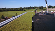 Apex Green Roofs is installing the 14,500 square foot LiveRoof system supplied by Prides Corner Farms from August 19 to August 22, 2014.
