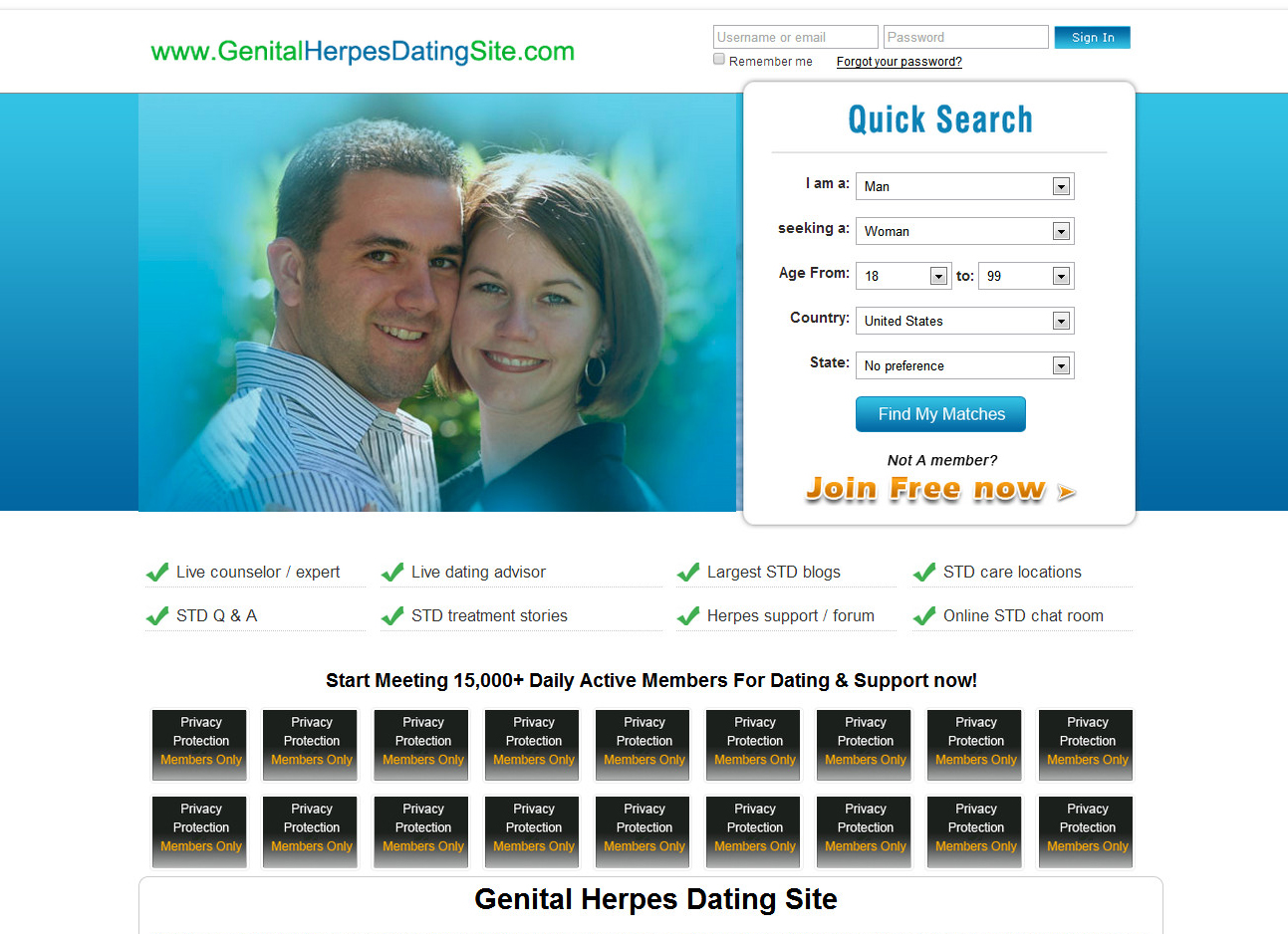 Dating sites for herpes sufferers