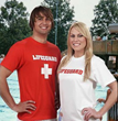 Red & White Lifeguard T-Shirt