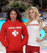Red Lifeguard Hoodie & Fitted Women's T-Shirt
