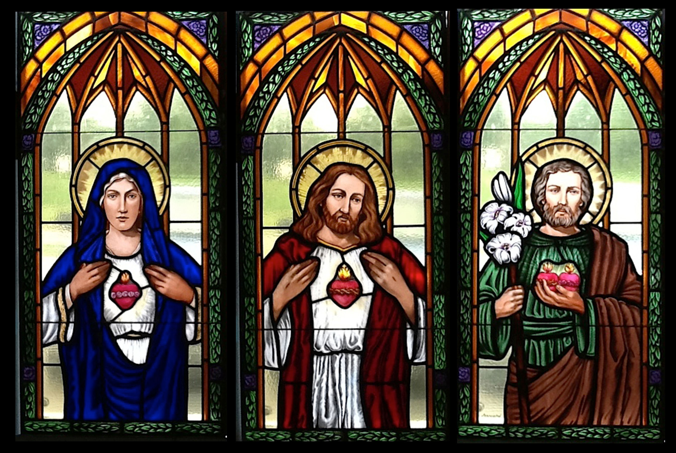 Associated Crafts Installs New Stained Glass Windows For St Mary Catholic Church In Charlevoix MI