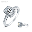 BERRICLE - Emerald Cut Halo Ring