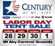 Ford, Chrysler, Dodge, Jeep, Ram, Mt Airy Maryland, Mt Airy Carnival Grounds, Auto Tent Sale, Used car sales, Century of Mt Airy