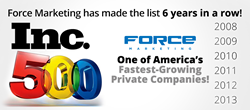 Force Marketing Earns Spot on Prestigious Inc. 500|5000 List