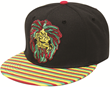 CF1564 LION WITH RAGGAE HAIR RASTA SNAPBACK