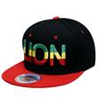 RASTA GRADATION LION SNAPBACK CAP