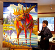 "Featured Fall Arts Festival artist, Nancy Dunlop Cawdrey and her painting, ""Forever Jackson."""