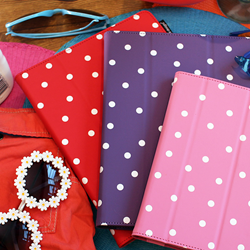 polka dot, ipad covers, ipad accessory