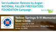 ServiceMaster Restore by Angler to Sponsor the Yellow Springs 9/11 Memorial Stair Climb to Raise Money for the National Fallen Firefighters Foundation