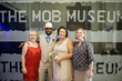 Left to Right,  Ann Parsons, Marketing Director, Vegas Weddings; Macharia Thomas, Groom, JoAnn Chan Thomas, Bride, Nancy Normile, Sales Manager, The Mob Museum