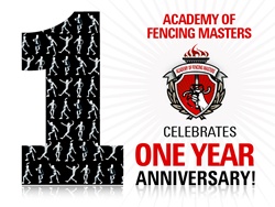 Academy of Fencing Masters Celebrates One-Year Anniversary