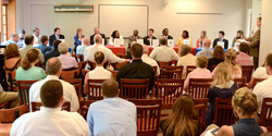 College admissions officers from a dozen colleges and universities participated in a College Admissions Roundtable at Fork Union Military Academy.