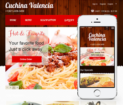 create restaurant website