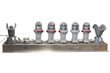 Explosion Proof LED Signal Stack Light with Five 10 Watt LED Lamps and Two Audible Horns