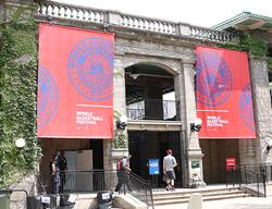 Large hanging banner