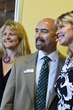 RAFT Colorado Executive Director Stephanie Welsh, Colorado Lieutenant Governor Joseph Garcia, and Carrie Morgridge with the Morgridge Family Foundation