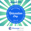 Emassagechair.com Joins in the Fun for National Relaxation Day