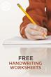 Fun Handwriting Worksheets Have Been Released on Kids Activities Blog.
