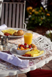 bed and breakfast St. Augustine, Florida, omelette, orange juice