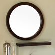 Bellaterra Home 21.7 in Round mirror-wood-Ebony-Zebra 804338-MIRROR